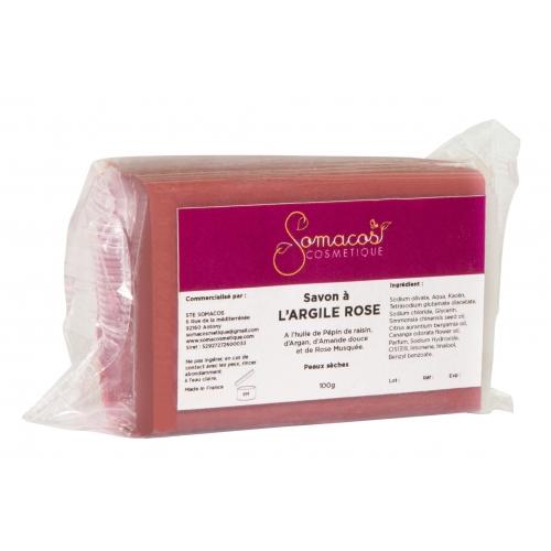 Savon à l'argile rose (peaux sèches)