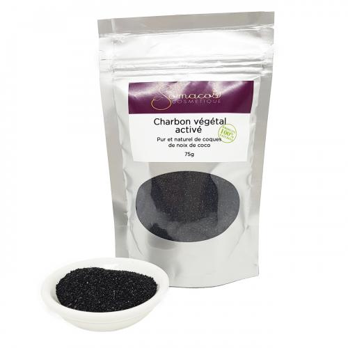 Le charbon végétal activé (poudre) 100% pur et naturel 75g